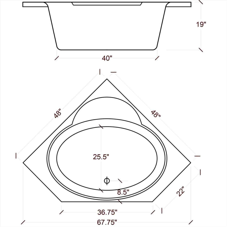Image Result For Jacuzzi Standard Size Corner Bathtub Soaker