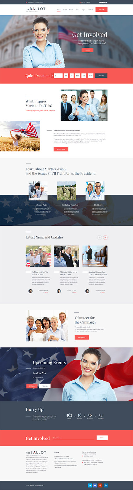 The Ballot - Political Candidate WordPress Theme WordPress Theme - political brochure