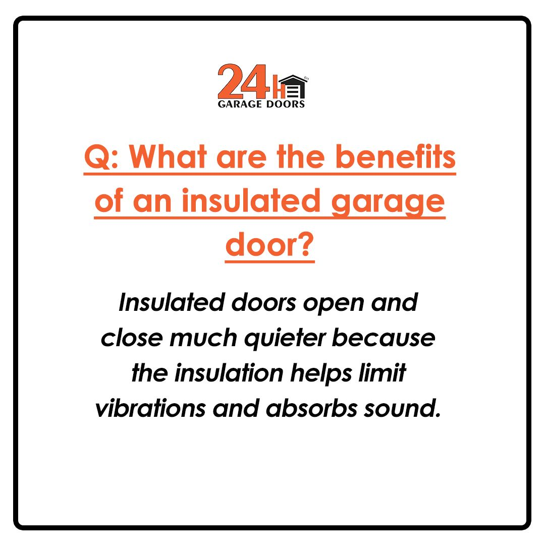 Insulated Doors Open And Close Much Quieter Because The