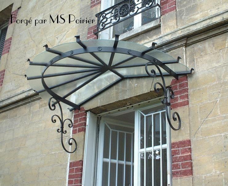 Marquise en fer forg en demi cercle marquise marquise - Porte d entree demi ronde ...