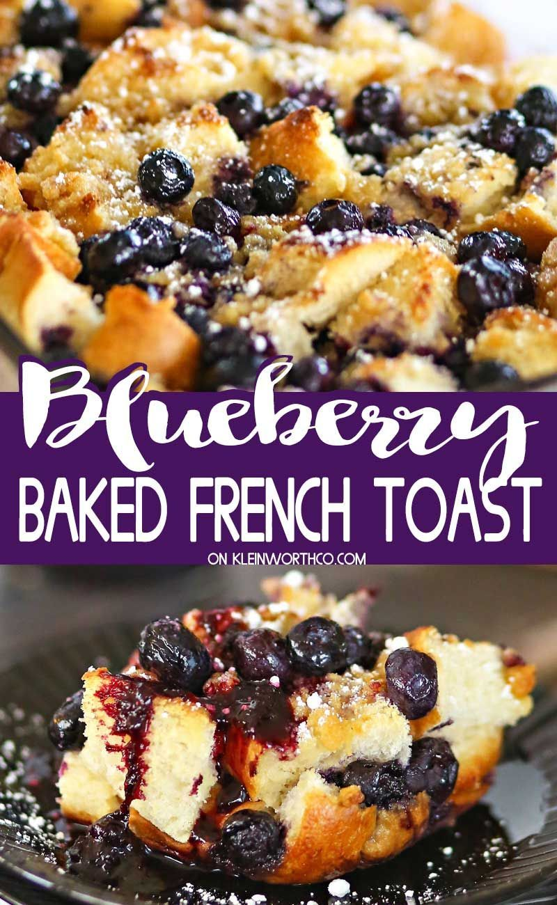 Blueberry Baked French Toast is an easy breakfast recipe for any day of the week. You'll love how easy it is to make this overnight french toast casserole. Baked French Toast is an easy breakfast recipe for any day of the week. You'll love how easy it is to make this overnight french toast casserole.