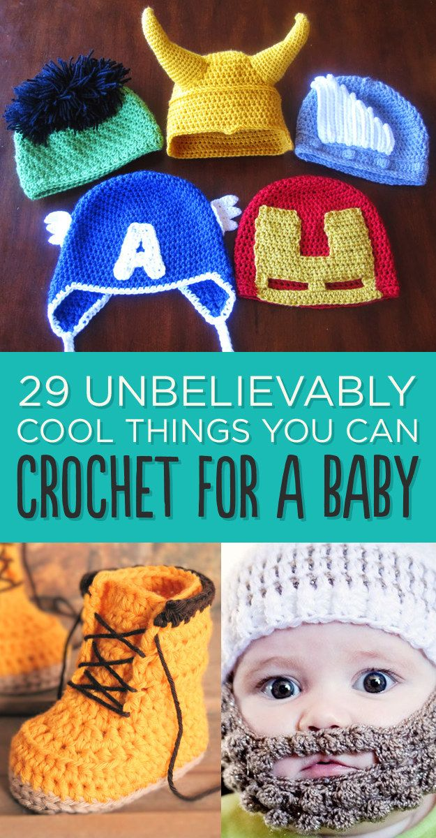 29 Unbelievably Cool Things You Can Crochet For A Baby | Gorros ...