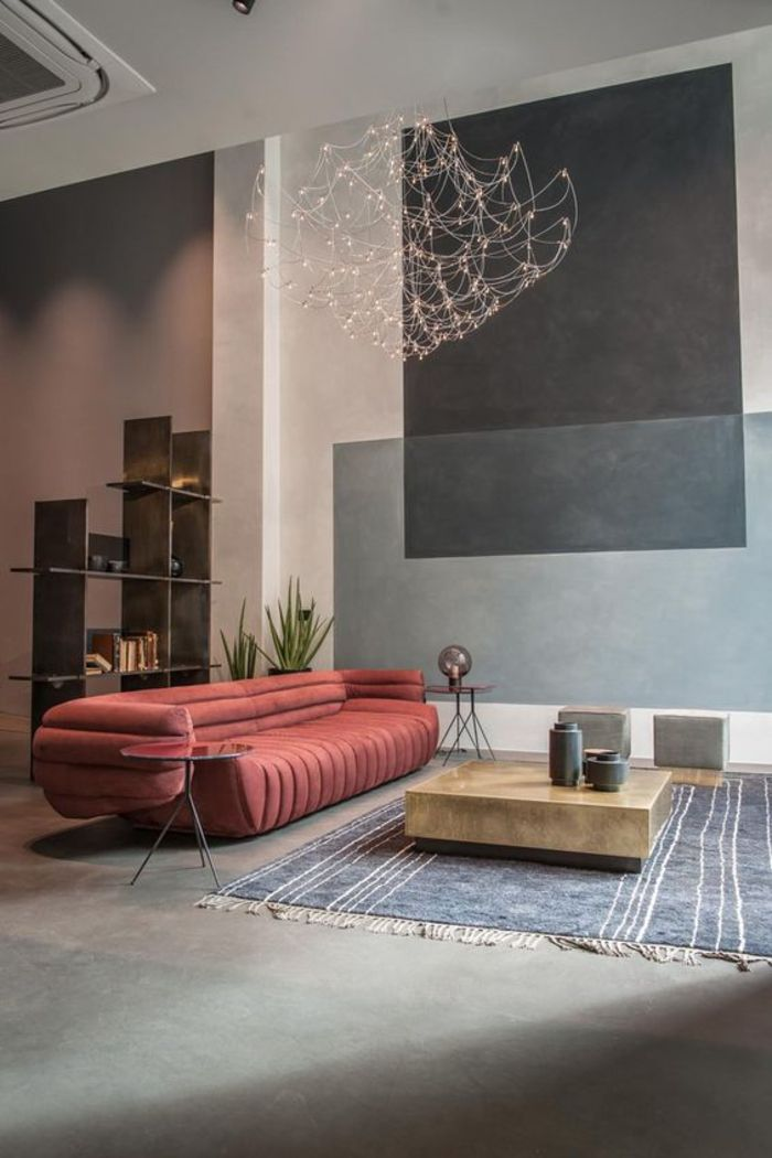 ▷ 1001+ idées pour décorer avec la couleur terre de sienne - couleur pour salon moderne