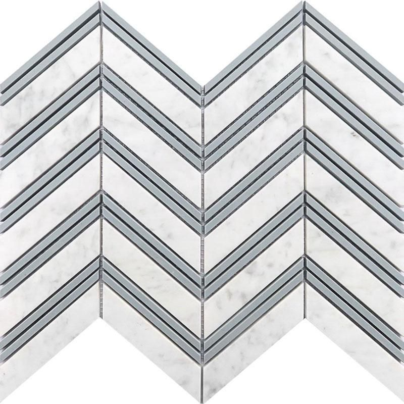 Make a stunning statement with a bright natural stone kitchen backsplash or an astonishing patterned bathroom wall - with our Nova Carrara marble chevron tile it is so easy to do! We could see this charming product to be used for so many different residential or commercial projects, starting with a marble chevron floor. Nova Carrara floor tile is approved for both low and heavy foot traffic areas. Cover the entire space or just spice it up with a delicate accent. Decorate your kitchen, bathroom,