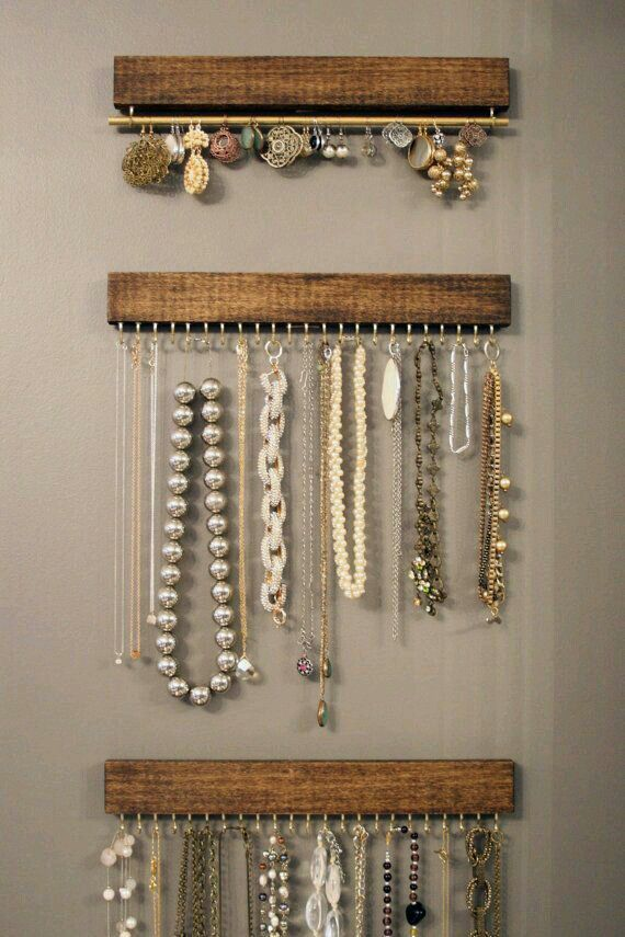 Wood With Hooks And Rods So Pretty Simple And Cheap Love It