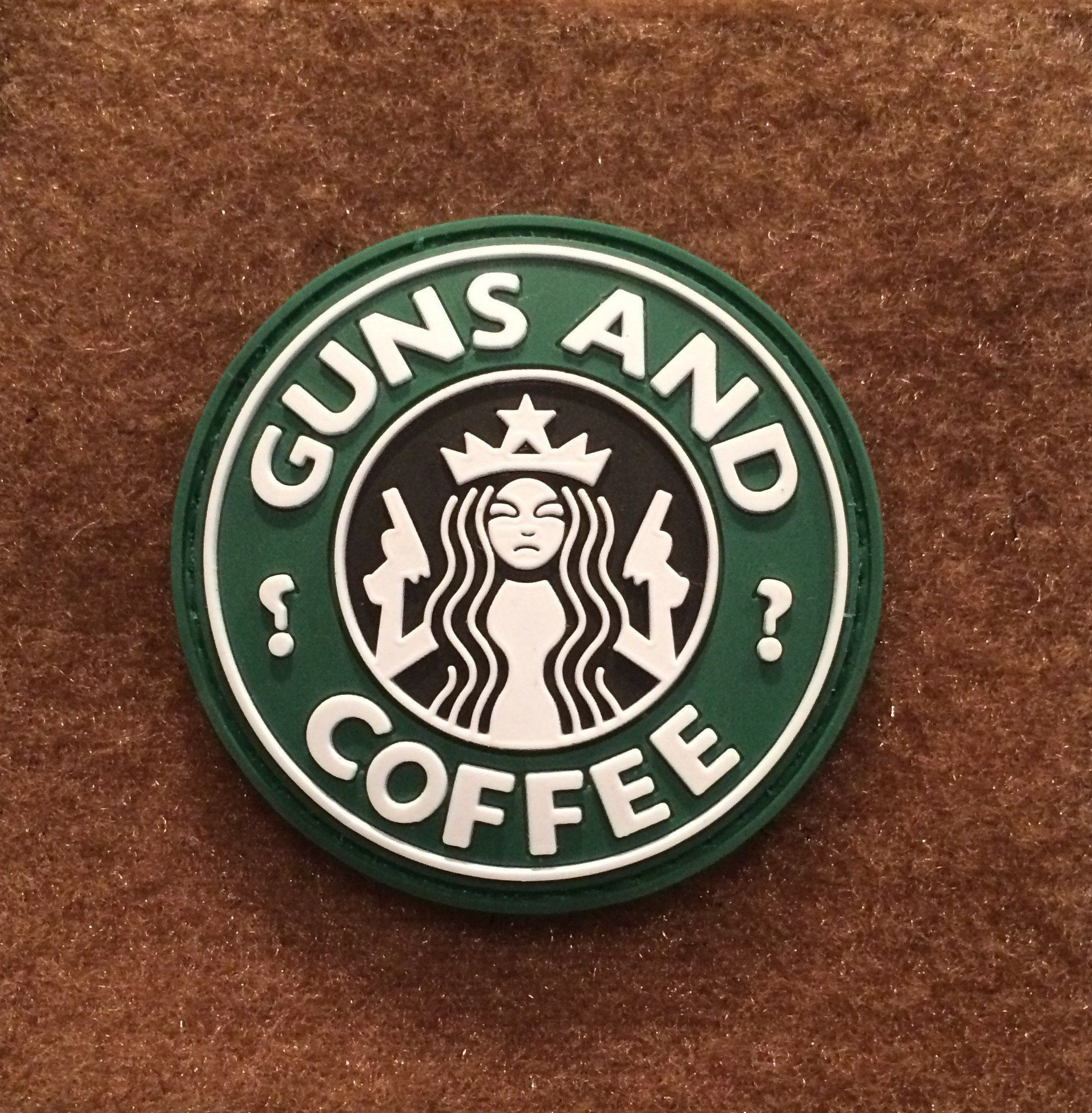 Guns and Coffee 3D PVC Tactical Morale Patch