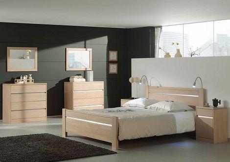 Novara bed, slaapkamer, hout ,Hevea, beits naturel,commode,laden,van ...