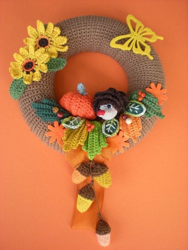 Türkranz Selber Häkeln Diy Herbstdeko Wreaths