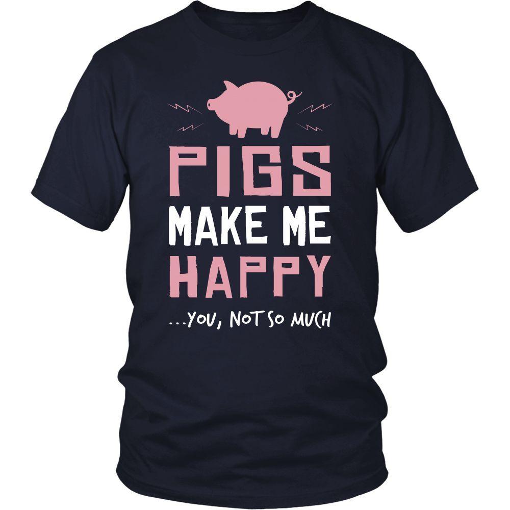 Pig Shirt - Make Me Happy - Animal Lover Gift