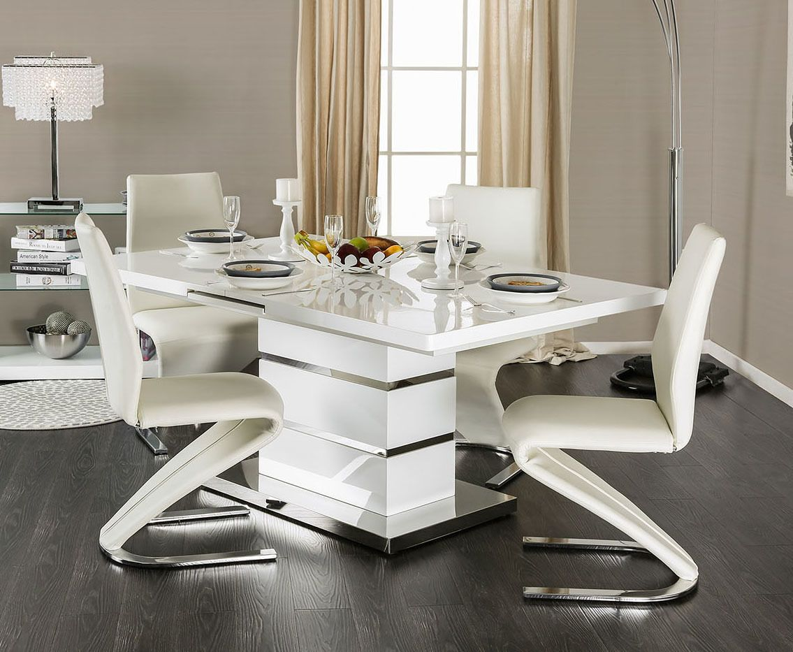 Veronica Extending Dining Table With Four Chairs Contemporary Dining Table Modern Dining Table Dining Table