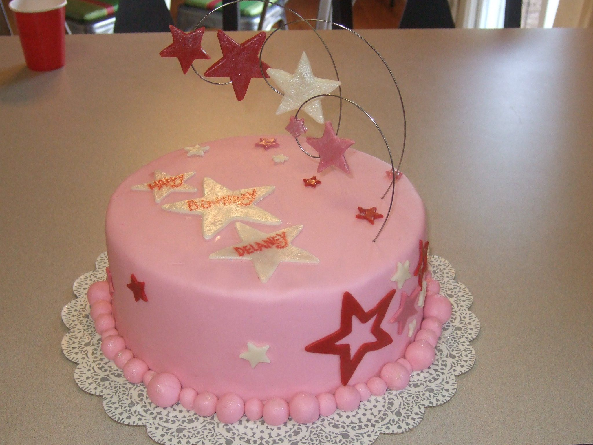 Terrific American Girl Cake With Images American Girl Birthday Personalised Birthday Cards Paralily Jamesorg