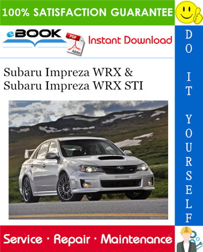 2011 Subaru Impreza Wrx Subaru Impreza Wrx Sti Service Repair Manual Subaru Impreza Impreza Subaru