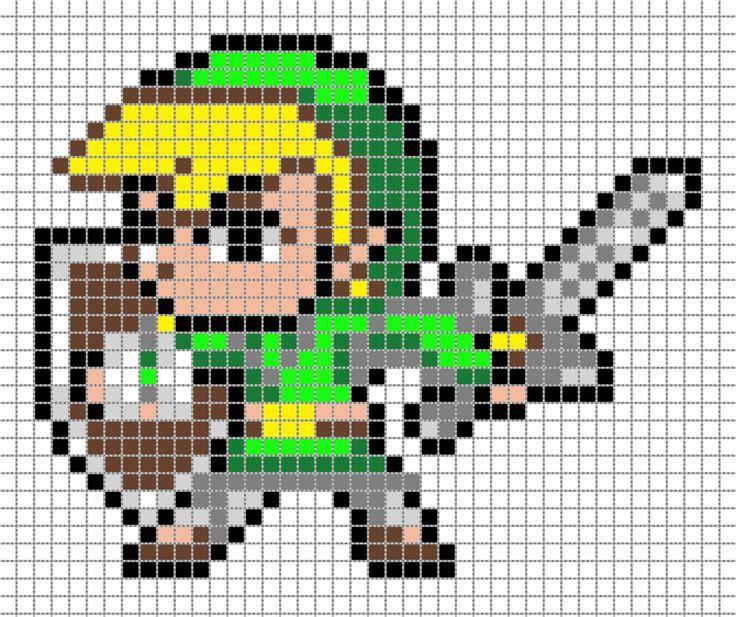 Link Pixel Art Grid By Matbox99deviantart On DeviantART