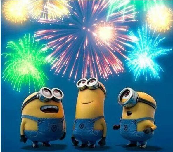 fireworks happy new year minions happy new year funny happy new year 2014