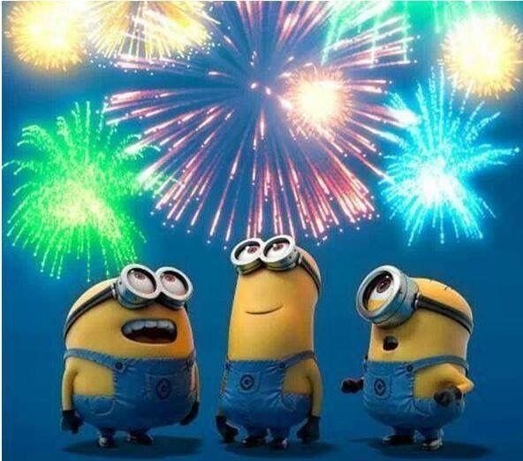 Fireworks Happy new year minions, Minions, Minions new year