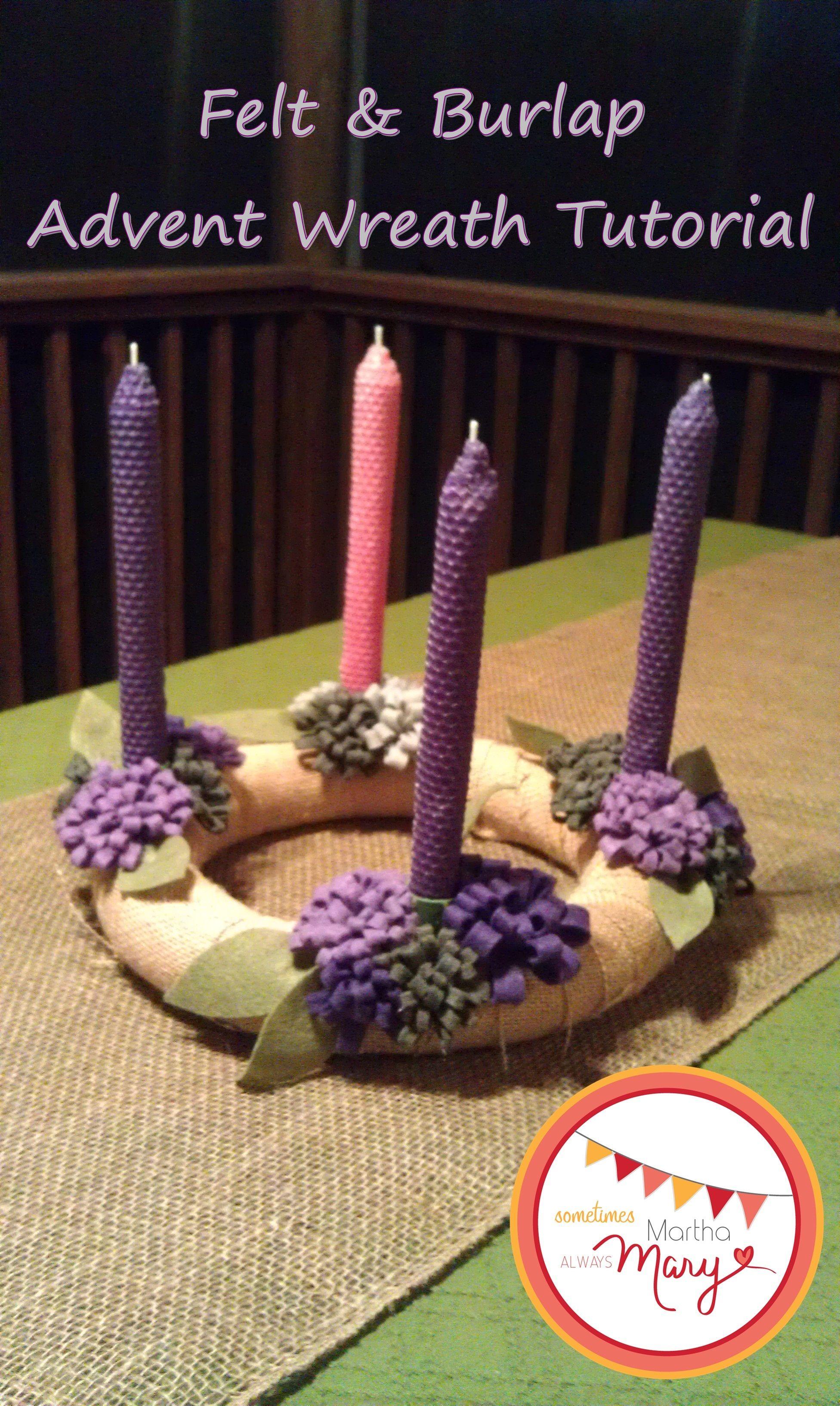 Felt and Burlap Advent Wreath Advent wreath diy, Advent