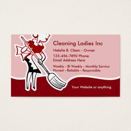 House cleaning business card selowithjo house cleaning maid business card cleaning maid cleaning business wajeb Gallery