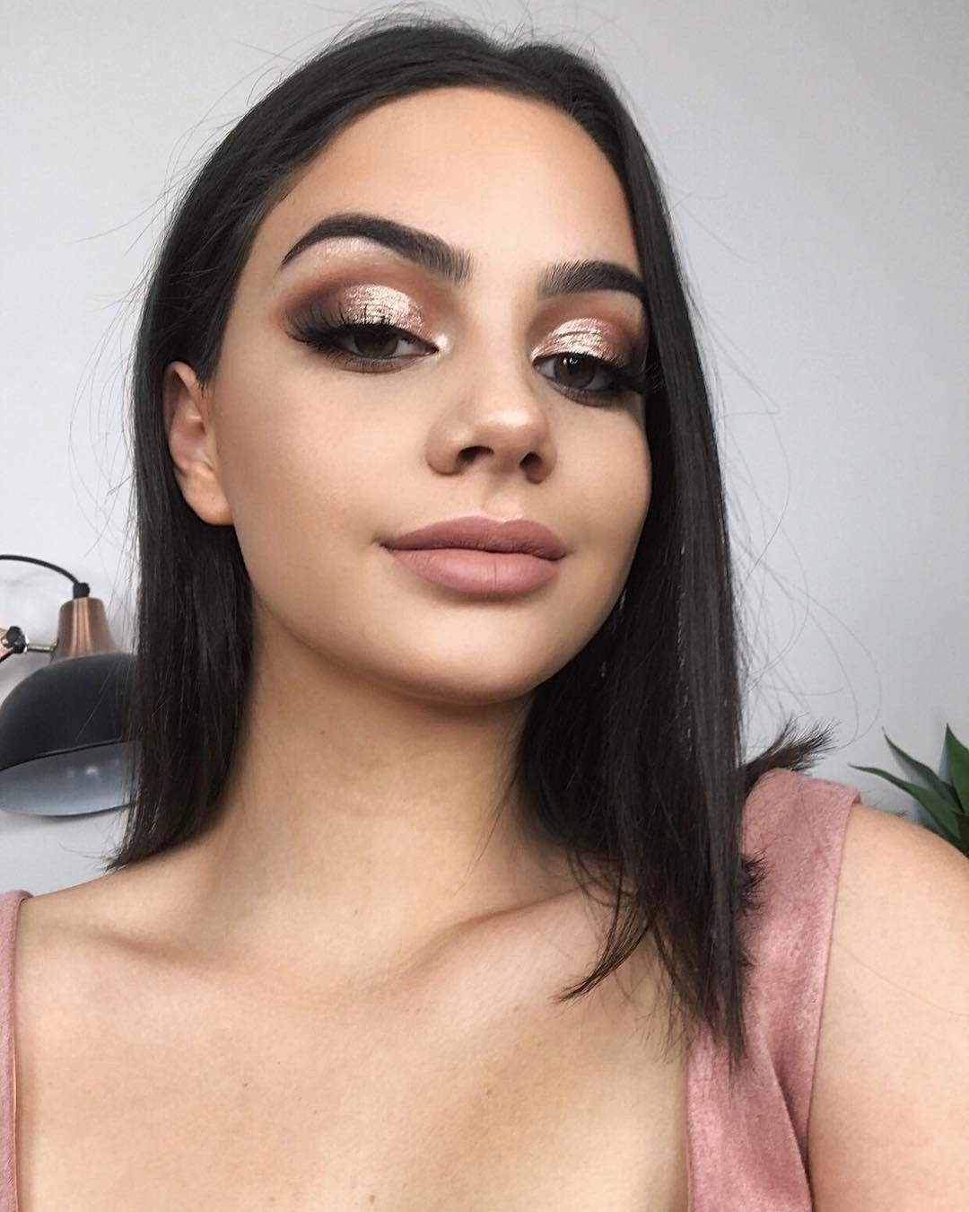 Goooood Morning Darlings I Just Uploaded A New Video To My Channel That U Don T Wanna Miss Heheh Rose Gold Eye Makeup Birthday Makeup Looks Black Dress Makeup [ 1350 x 1080 Pixel ]