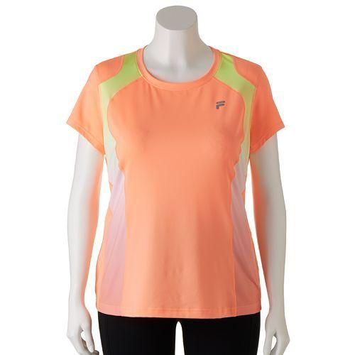 d425b2166ec FILA SPORT® Ombre Inset Workout Tee - Women s Plus Size