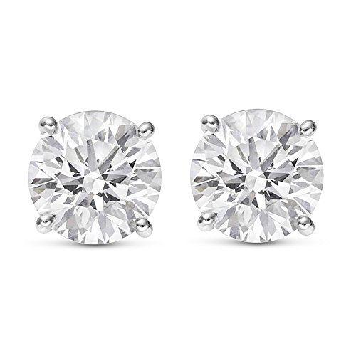 Sale Price 250 1 4 Carat Solitaire Diamond Stud Earrings Round Brilliant Sha Diamond Solitaire Earrings Pyramid Stud Earrings Diamond Earrings Studs Round