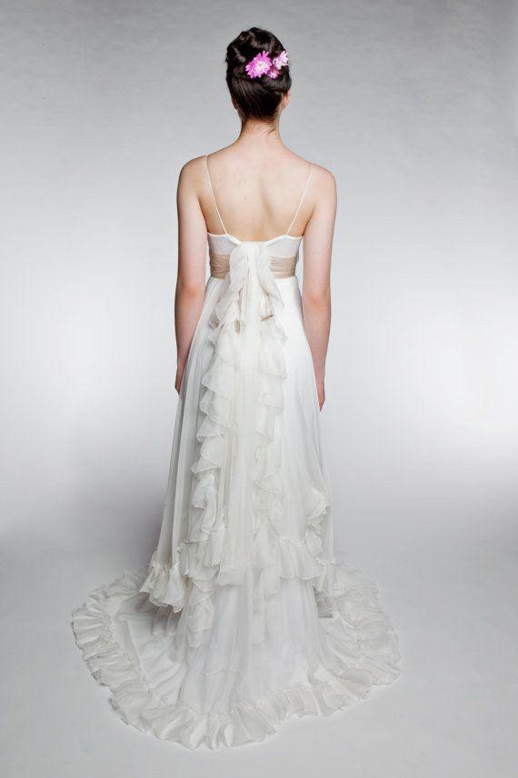 Ruffled Chiffon Dress | 50 Dreamy Wedding Dresses You\'ll Fall In ...
