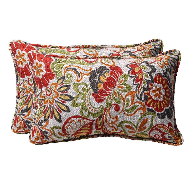 Amazon Com Pillow Perfect Decorative Multicolored Modern Floral