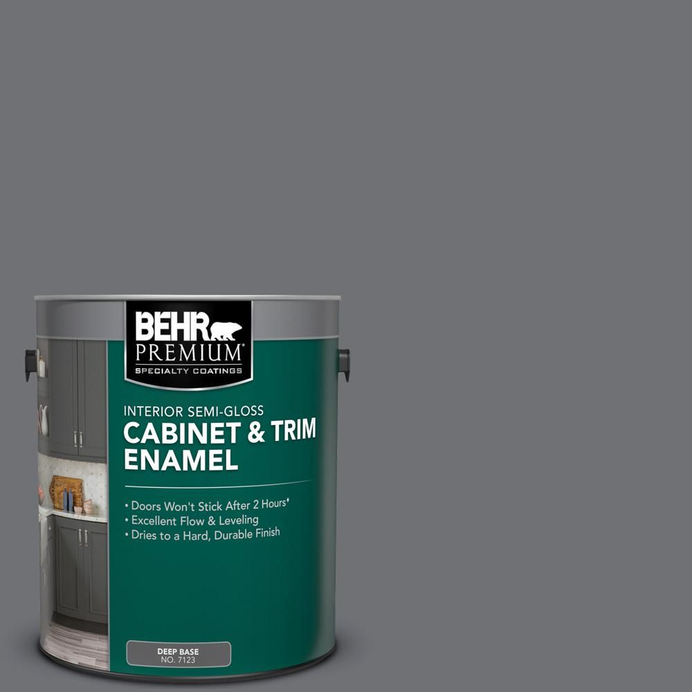 Behr Premium 1 Gal Ppu18 03 Antique Tin Semi Gloss Enamel Interior Cabinet And Trim Paint 712301 The Hom Exterior Paint Interior And Exterior Painting Trim