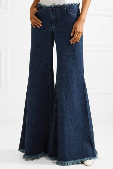 Frayed Mid-rise Wide-leg Jeans - Dark denim Marques Almeida 3vO8YX