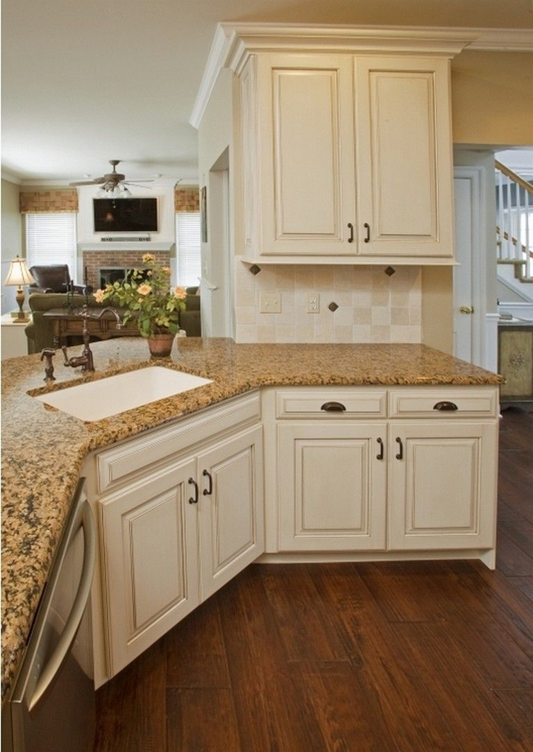120 Easy And Elegant Cream Colored Kitchen Cabinets Design Ideas Page 85 Of 122 Antique White Kitchen New Kitchen Cabinets Antique White Kitchen Cabinets