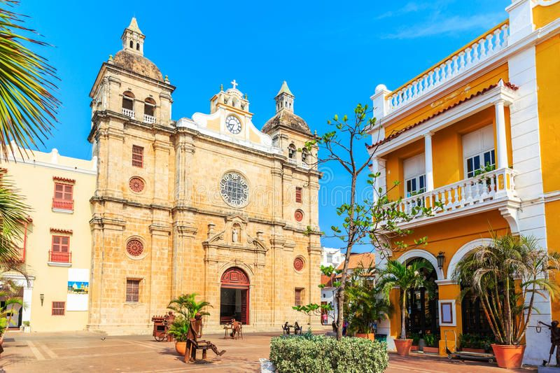 Cartagena, Colombia. Church of St Peter Claver in