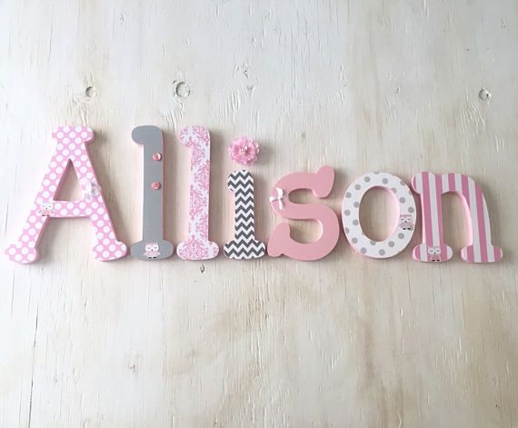 Baby Name Letters Nursery Decor 8 S Bedroom
