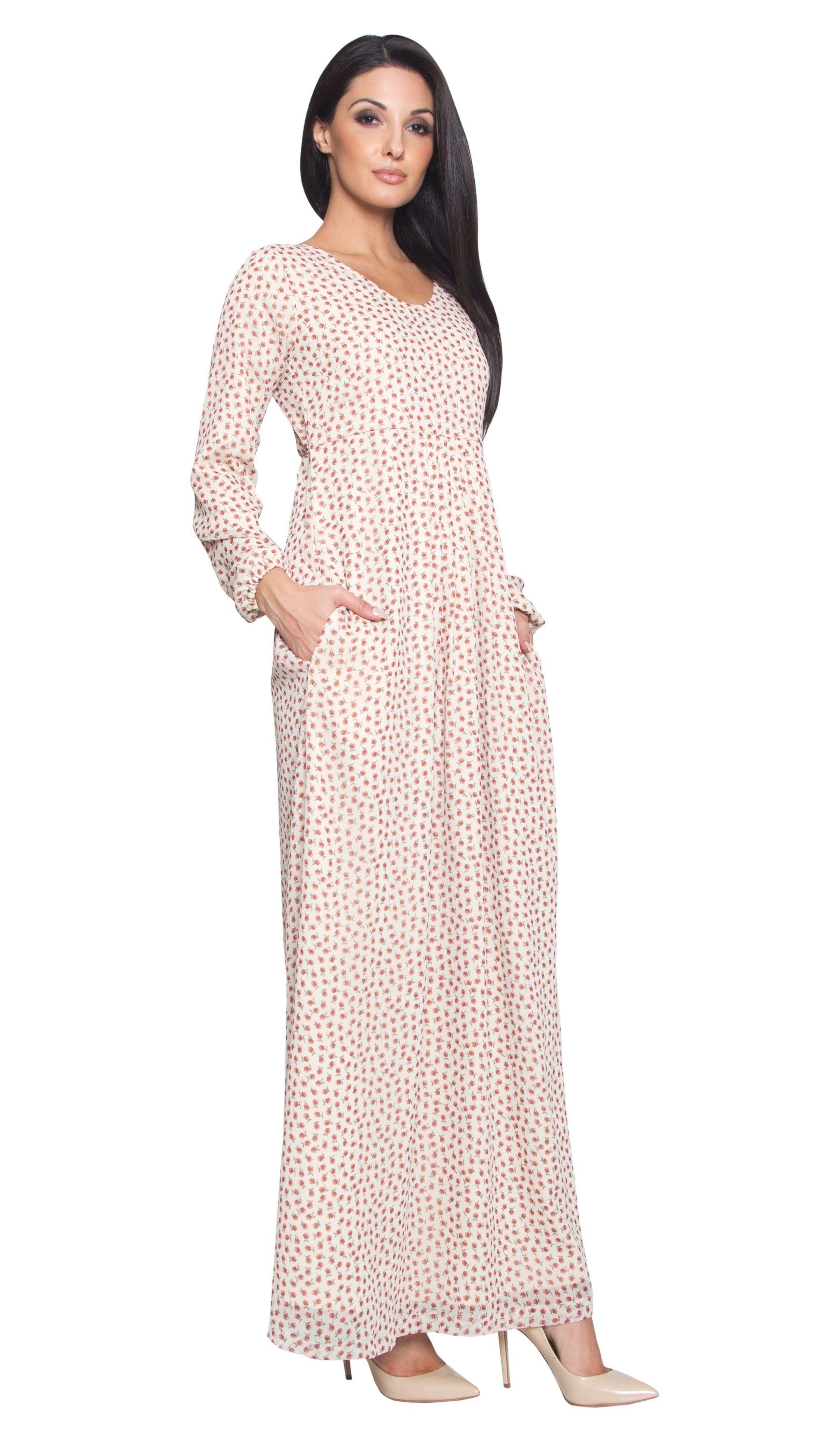 Tan Floral Print Chiffon Long Sleeve Modest Maxi Dress Abayas Kaftans Maxi Dresses And Long Sleeve Dresses Modest Maxi Dress Chiffon Long Sleeve Maxi Dress [ 3500 x 2042 Pixel ]