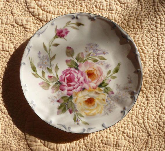 Plato de porcelana alemana pintado estilo meissen platos for Platos porcelana