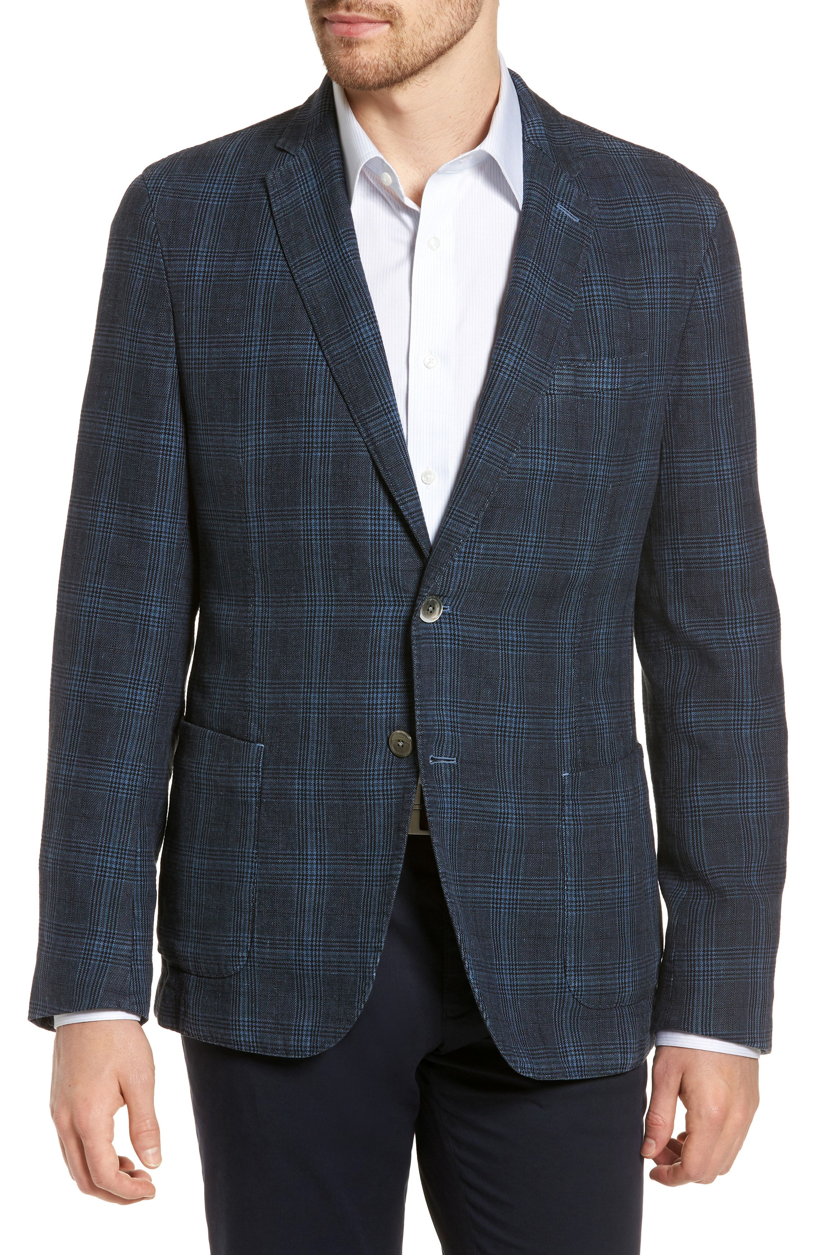3c241bcfb BOSS HANRY-D TRIM FIT PLAID LINEN & COTTON SPORT COAT. #boss #cloth ...