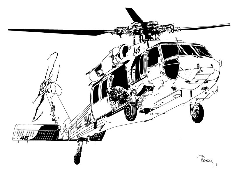 Sikorsky MH-60S Knighthawk HSC-28 Helicopter Sea Combat Squadron Two ...
