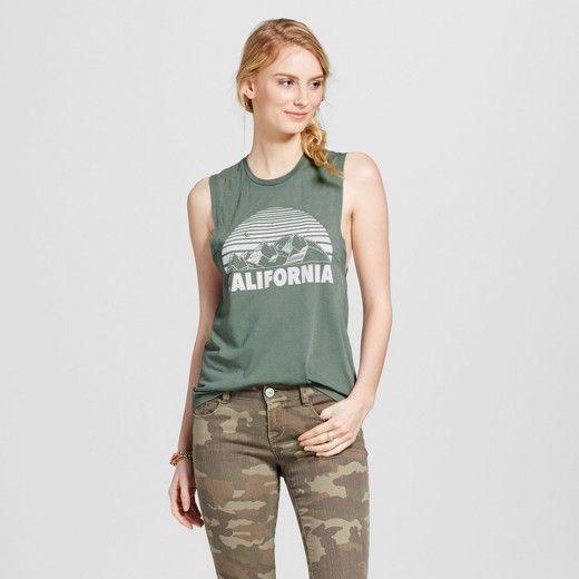 Women's California Mountains Graphic Tank Green - Fifth Sun (Juniors') : Target
