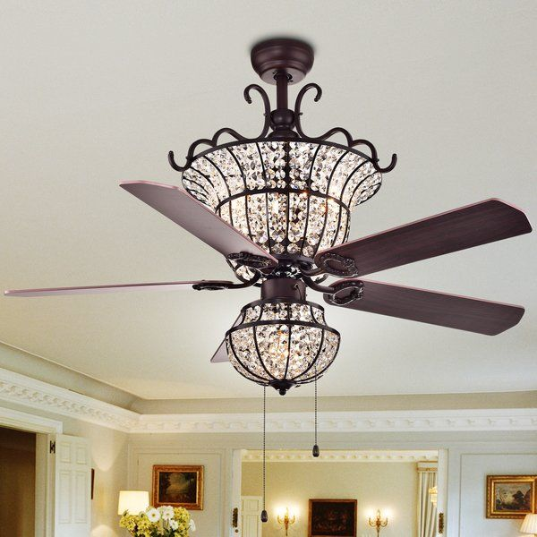 52 Drumcullen Crystal Ceiling Fan With Light Kit Included In 2020