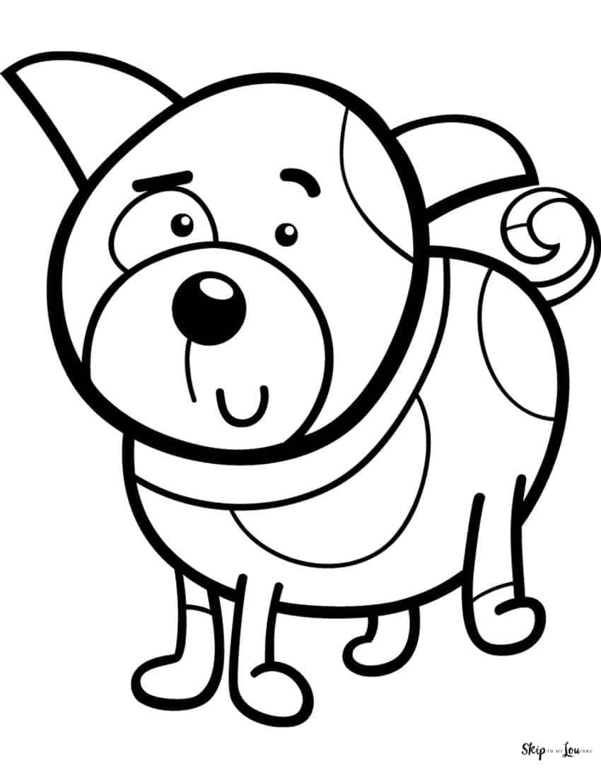 Free Printable Dog Coloring Pages Dog Coloring Page Puppy Coloring Pages Easter Coloring Sheets [ 1100 x 850 Pixel ]