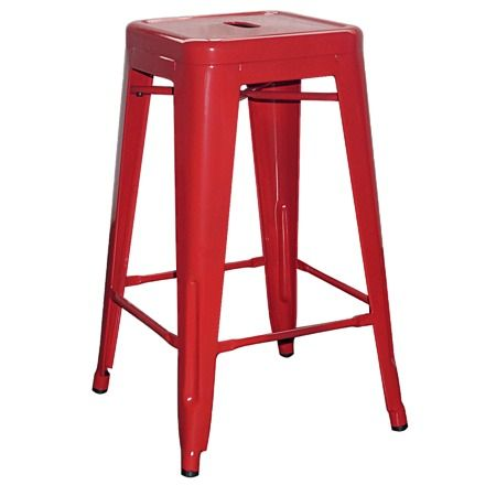 Reside Metal Stool Red - Barstools - Furniture - The Warehouse
