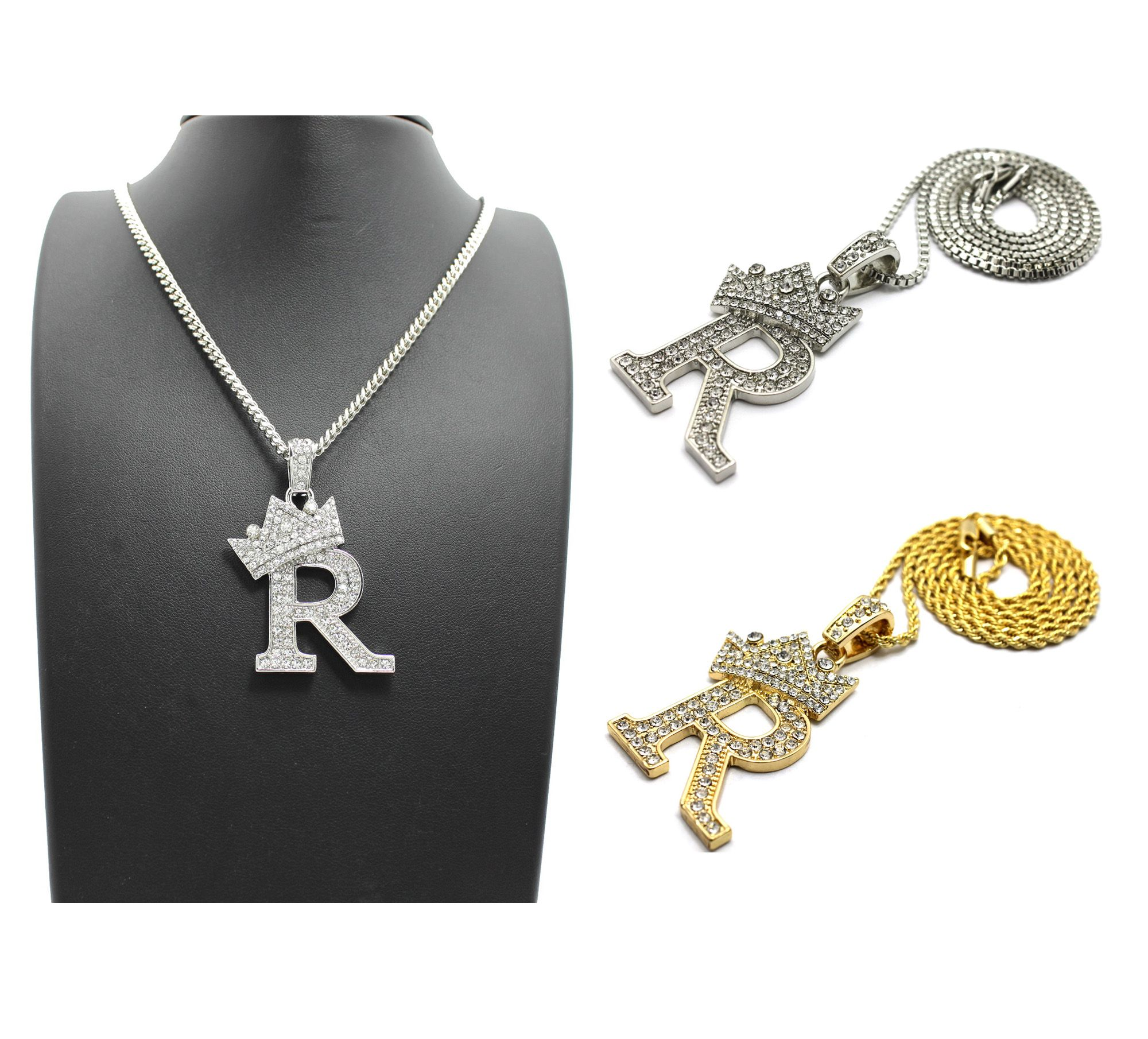 Iced out king r pendant 24 boxcubanropefox chain hip hop chain pendants mozeypictures Gallery