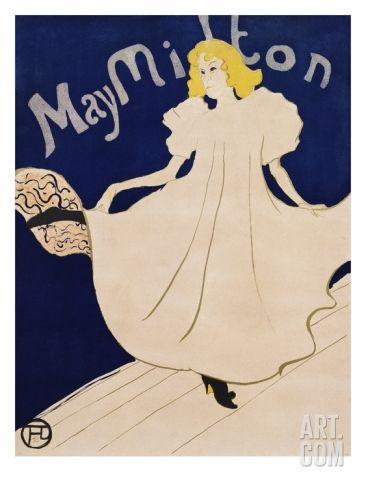 May Milton Giclee Print by Henri de Toulouse-Lautrec at Art.com