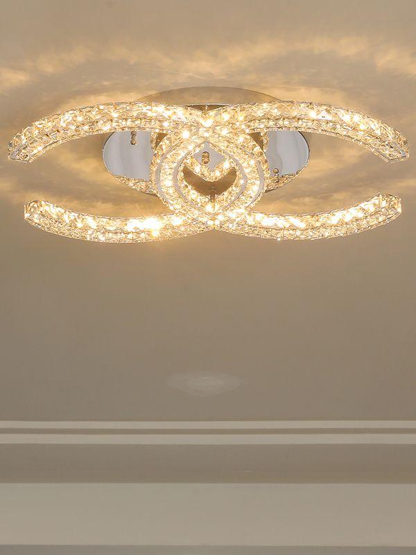 Modern LED Crystal ceiling light for bedroom   Crystal