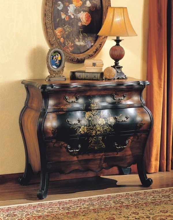 #Home #Decor: #Furniture And Decorators: Roma Bombay Floral Pattern Chest