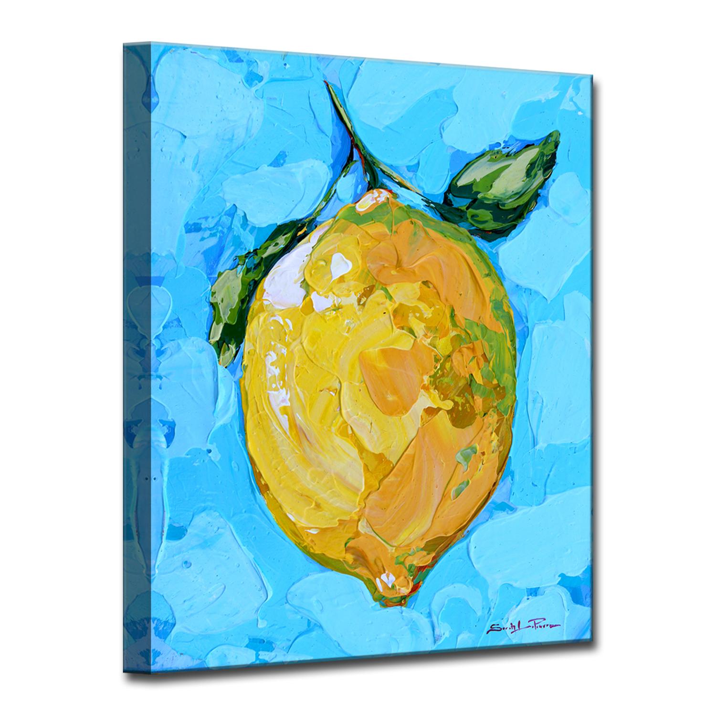 Citrus on Aqua Small Blue Canvas Wall Decor   Products   Pinterest ...