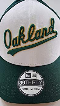 f7f5ad28 New Era 39Thirty Oakland A's Cooperstown Fitted Baseball Cap Hat Men's Size  Small-Medium Green: Amazon.co.uk: Clothing