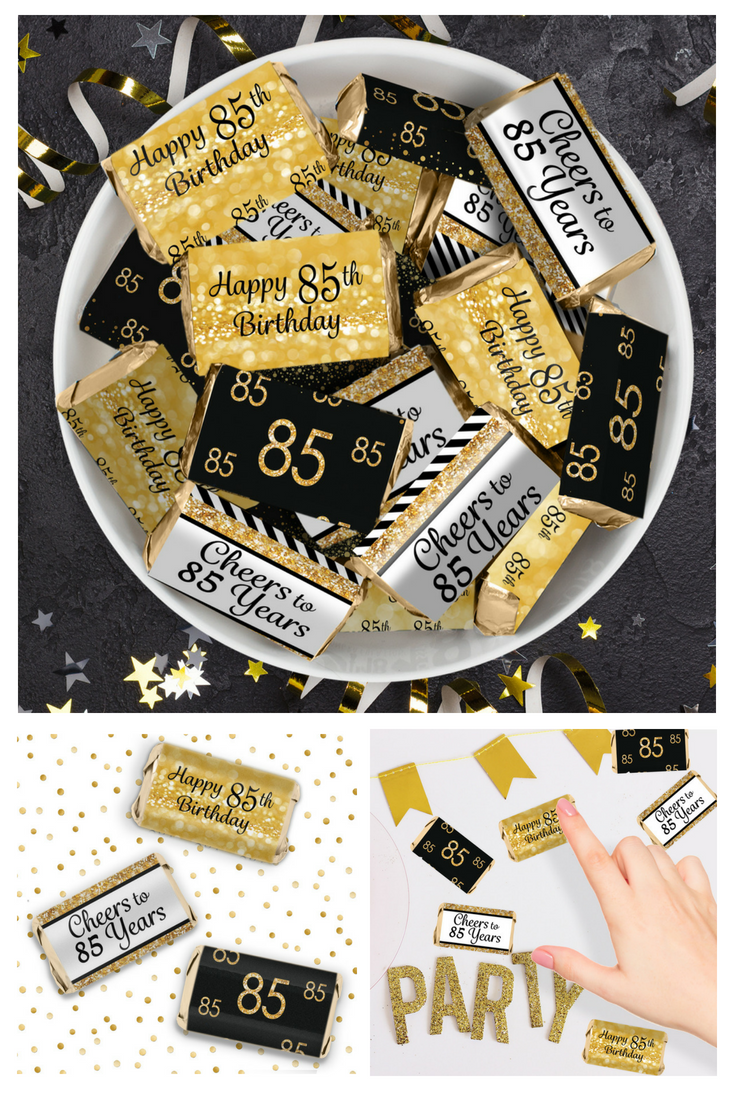 Fun And Easy Idea For Happy 88th Birthday Party Favors Using Candy Wrappers Mini Chocolate Bars 85thbirthday