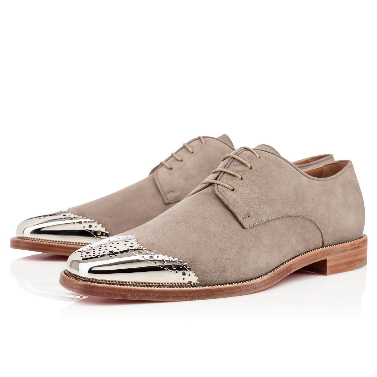 281df83d2829 ... new style gareth zip mens flat mastic suede christian louboutin  whataman quelhomme 9a1e5 31eef