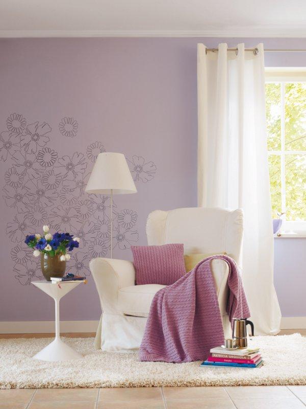 Jetzt wirdu0027s farbenfroh! Mit der passenden Tapete lassen sich - wohnideen tapete wohnzimmer