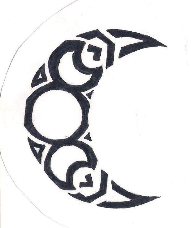 Triple Moon In Crescent Tattoos Pinterest Triple Crescent Moon