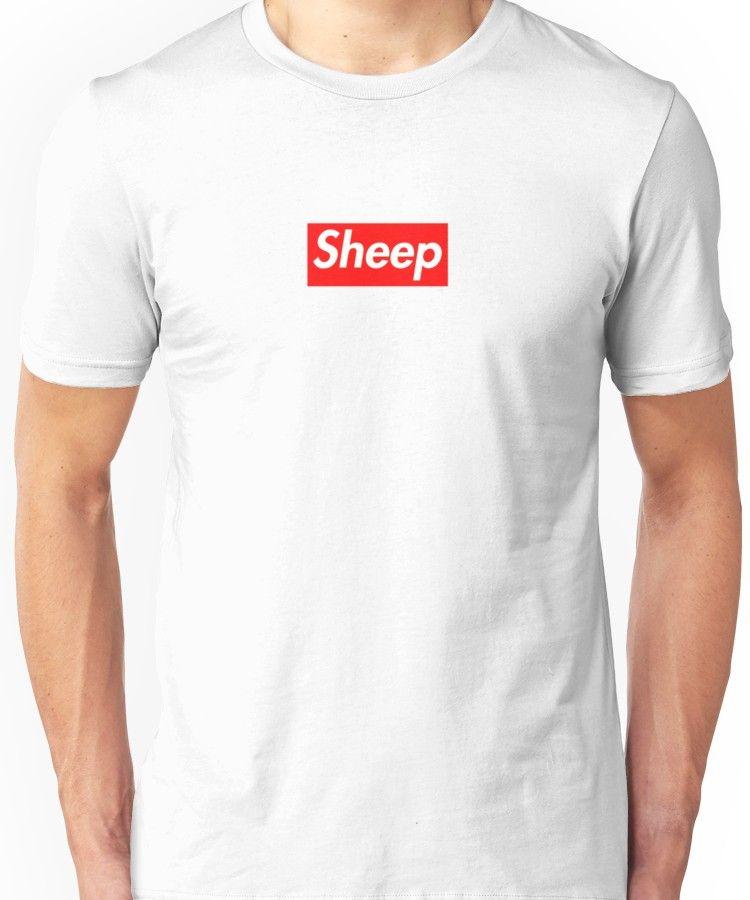 98ba45e53f93 idubbbz sheep supreme parody | Unisex T-Shirt | Products | Shirts, T ...